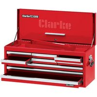 Clarke Clarke CBB309DF Large 9 Drawer Tool Chest with Front Cover - Red