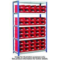 Barton Storage Barton Storage Eco-Rax TC Shelving Unit With 50 TC4 Blue Containers