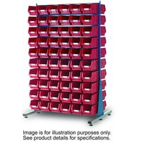 Machine Mart Xtra Barton Storage 011524B MDS1.5 Spacemaster Double Sided Starter Kit With 240 TC2 Bins
