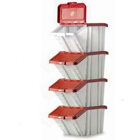 Barton Storage Barton Topstore Multi-Functional Containers with Red Lids