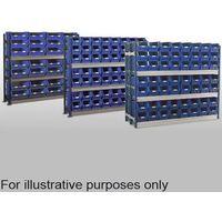 Barton Storage Barton Toprax Longspan Double Extension Bay with 144 TC4 Bins & 8 Shelves