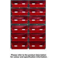 Barton Storage Topstore 12 Bin Storage Kit Red 1828 x 641mm