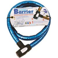 Oxford Oxford OX146 Barrier Motorcycle Cable Lock (Blue)