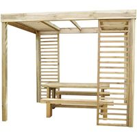 Machine Mart Xtra Forest 220x200x300cm Dining Pergola With Panels
