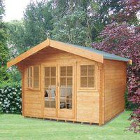 Machine Mart Xtra Shire 14 x 14 Clipstone Log Cabin