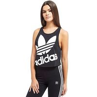adidas Originals Trefoil Crop Sleeveless Vest - Black/White - Womens