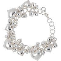 Martick Silver Heart Charm Bracelet