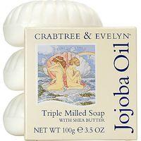 Crabtree & Evelyn Jojoba Oil Triple Milled Soap, 3 x 100g