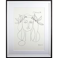 Picasso Head, 1946 Framed Print