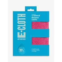 e-cloth General Purpose Cloths, Pack of 4