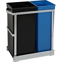 simplehuman Pull-Out Recycler Bin 20/15 litre