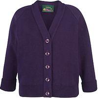 Girls School Cardigan, Purple