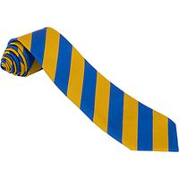 School Unisex Tie, Royal Blue/Yellow