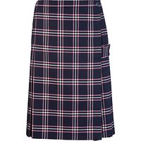 Westfield School Junior (Key Stage 2 Upwards) and Senior Girls Tartan Kilt, Navy/Pink