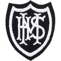 Mayville High School Boys Cap Badge, White/Black