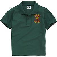 St Louis Primary School Boys Summer Polo Shirt, Bottle Green