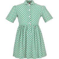 Redland High School Summer Dress, Green/Yellow