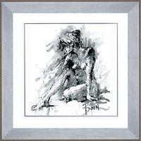 Joanne Boon Thomas - Figurative Study 1 Framed Print, 91 x 91cm
