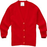 Girls School Cardigan, Red