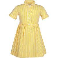 School Girls Summer Dress, Yellow