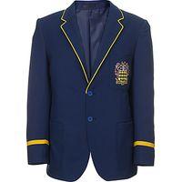 The Blue Coat School Girls 6th Form Blazer, Navy/Gold