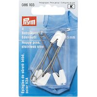 Prym Stainless Steel Nappy Pins, 55mm, Pack of 4