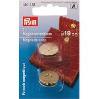Prym Magentic Snap Fastener, Gold Colour, 19mm