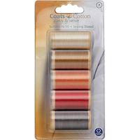 Coats Cotton Thread, Nr. 50, Brown/Orange/Red