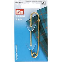 Prym Brass Kilt Pin, Gold Finish, 76mm