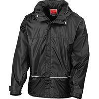School Unisex Waterproof Jacket, Black