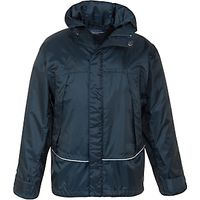 School Unisex Waterproof Jacket, Navy
