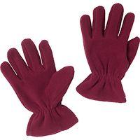 School Fleece Gloves, Maroon