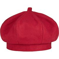School Plain Beret, Red