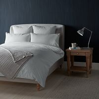 John Lewis Croft Collection Bethany Duvet Covers and Pillowcases, Grey