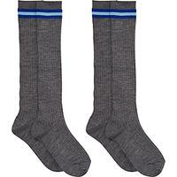 Westville House School Boys Socks, Pack of 2, Grey/Blue
