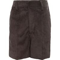 Boys Cord Shorts, Grey