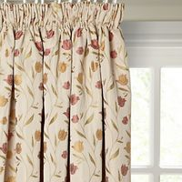 John Lewis Tulips Lined Pencil Pleat Curtains