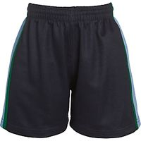 Belvedere Academy Girls PE Shorts, Navy/Multi