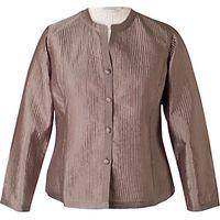 Chesca Topstitched Reversible Jacket, Mocha/Vanilla