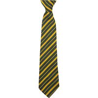 St. Marylebone School Clip On Tie, 14, Yellow/Multi