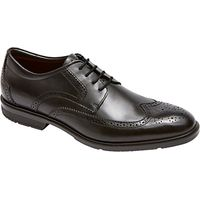 Rockport City Smart Wing Tip Brogue Shoes, Black