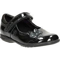 Clarks Childrens Trixie Run Patent Mary Jane Shoes, Black