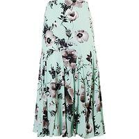 Chesca Opal Poppy Print Skirt, Opal