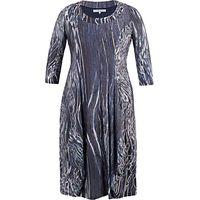 Chesca Ribbon Print Dress, Navy