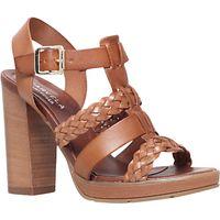 Carvela Krill Block Heeled Sandals, Tan Leather