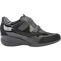 Geox Persefone Low Top Trainers, Black Leather