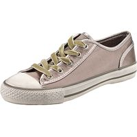 Ash Viper Lace Up Flat Heeled Trainers, Taupe