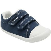Clarks Childrens Little Chap Rip-Tape Shoes, Navy