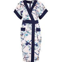 Closet Floral Print Kimono Dress, Multi