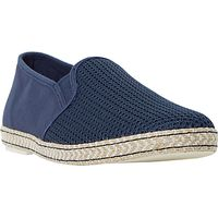 Dune Fencing Mesh Vamp Slip-On Espadrille Shoes, Navy